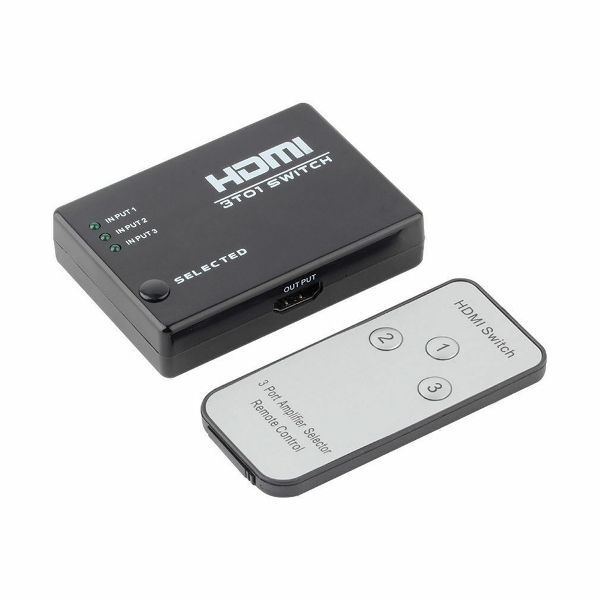 3 Port 1080P HDMI Splitter With Remote