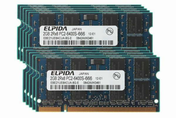 2GB DDR2 800MHz PC2-6400S 200PIN SODIMM Laptop Elpida 10H
