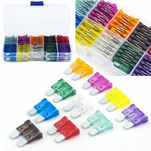 100 Assorted Fuse Kit Set 2A-35A + Box